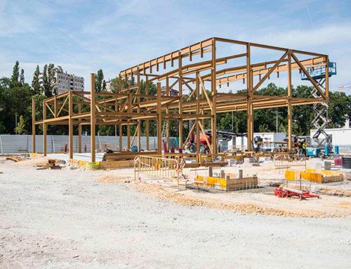 Continúa la construcción del nuevo centro de servicios del automóvil