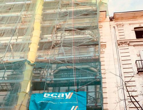 Continúan las obras de rehabilitación en el edificio de la Calle Lagasca de Madrid
