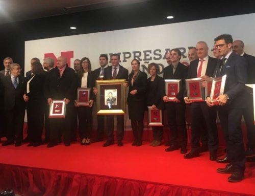 Los hermanos Ecay nominados al Premio Empresario Navarro del año, galardón que ha recaído en Benito Jiménez Cambra, Director General de Congelados de Navarra