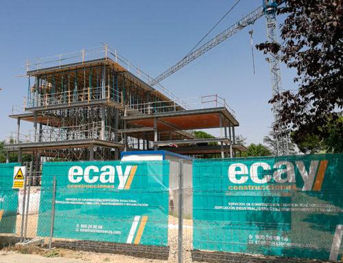 Continúan a buen ritmo las obras de construcción de una vivienda unifamiliar en Aravaca