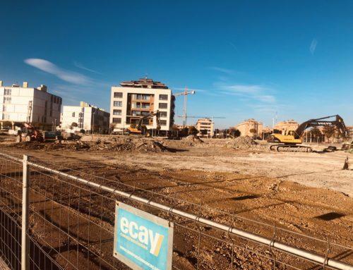 Continúan a buen ritmo las obras de ejecución del Eroski Center de Zizur Mayor