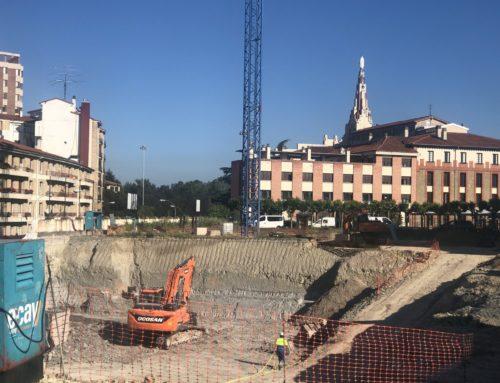 Avanzan a buen ritmo las obras de construcción de la nueva residencia de mayores de Domusvi en Pamplona