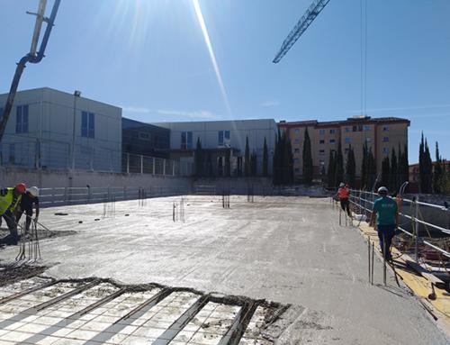 La construcción de la nueva residencia de mayores de Domusvi en Pamplona sale de cota cero